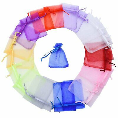 25x Organza Wedding Xmas Party Favor Gift Candy Bag Jewellery Wine Packing Pouch