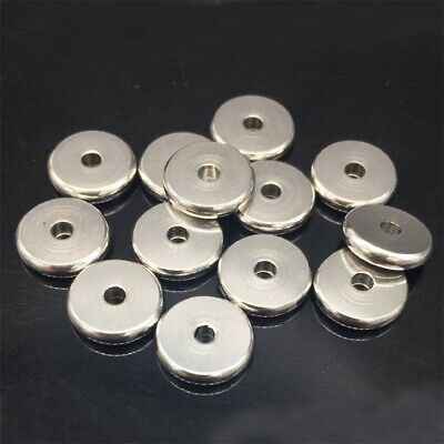 100pcs/lot 5mm/8mm/10mm Stainless Steel Solid Spacer Beads Fit DIY Necklace Bead