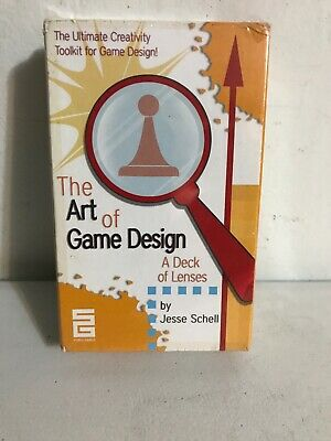 The Art Of Game Design A Deck Of Lenses By Jesse Schell Sealed 100 Card Deck
