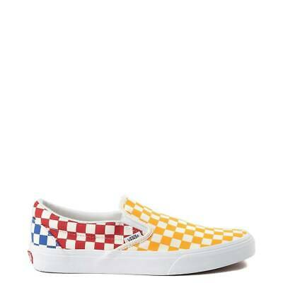 Vans Slip on à Enfiler Arc en ciel Blanc Damier Multi Color