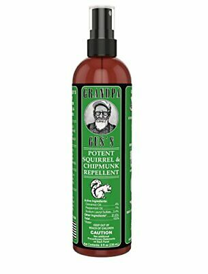 INDOOR & OUTDOOR Squirrel and Chipmunk Repellent Spray (8oz) - Natural, Effectiv
