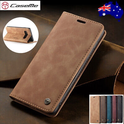 For Samsung S10 5G S9/8 Plus S7 Edge Leather Flip Wallet Case Card Stand Cover