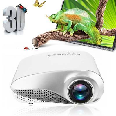 7000 3D 1080P Full HD Mini Projector LED Multimedia Home Theater Cinema AV USB