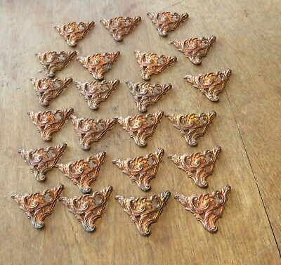 A Collection 27 Victorian  Copper Antique Rococo Box Feet  New Old Stock