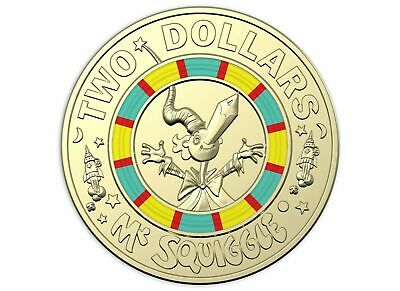 1x Mr Squiggle Week 3 2019 Two Dollar 2 Coin 60 Year