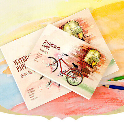 Watercolor Paper Sketch Book Drawing Painting Diary Sketch Office Supply ONE
