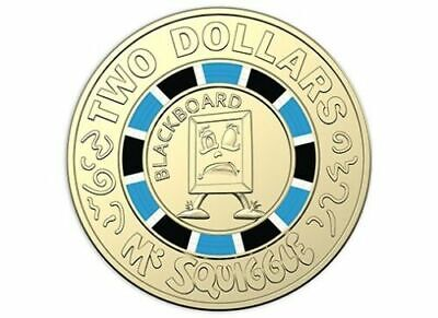 NEW 2019 $2 UNC Coin Rare Blue Black Ring Collection,Special Limited Edition