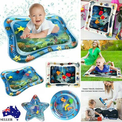 Inflatable Fun Water Play Mat for Kids Baby Children Infants Best Tummy Time New