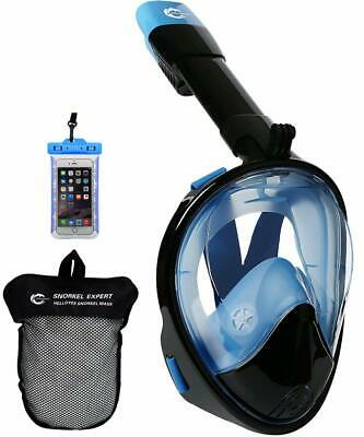 HELLOYEE Snorkel Mask Full Face GoPro Compatible Breathe Free for Adults Kids