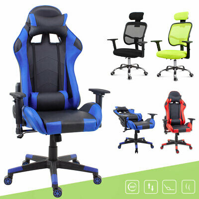 Office Computer Gaming Executive Chair Adjustable PU Leather/ Mesh Recliner