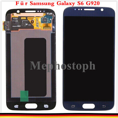 Für Samsung Galaxy S6 SM-G920F LCD Display Glas Touchscreen Bildschirm Blau