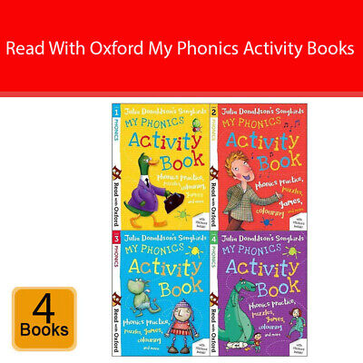 Read With Oxford My Phonics Activity Book (Stage 1 To 4) 4 Books Collection Set