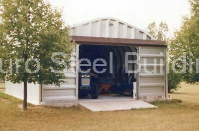 STEEL METAL 2-CAR Garage Building Kit 576 sq workshop barn shed