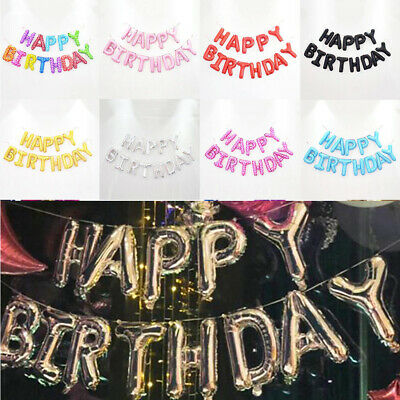 Large Happy Birthday Self Inflating Balloon Banner Bunting Party DIY Decoration