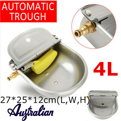 4L Automatic Water Trough Sheep Horse Dog Chicken Cow Bowl S-Steel Auto Fill AU