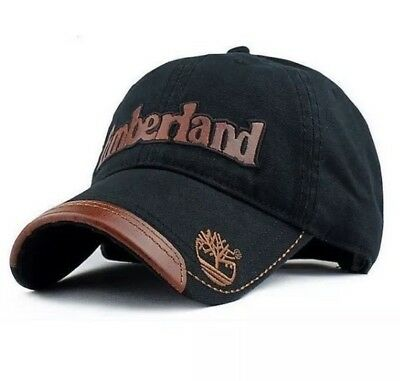 Timberland Casual Cotton Canvas Letter Stitching Sports Cap In Black