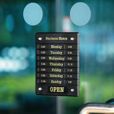 Hours of Business Open and Closed Shop Opening Times Door Notice