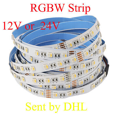 5M-100M 24V 5050 SMD RGBW (RGB+Warmweiß) LED Streifen LED Strip Stripes Band 12V