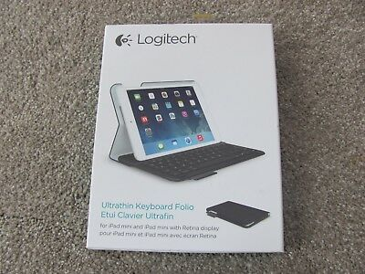 for iPad mini 1//2//3 Logitech 920-006030 Ultrathin Keyboard Cover Case Folio