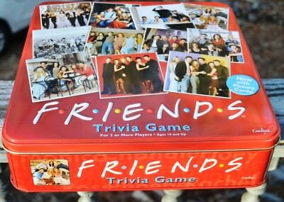 Mint 2003 Friends Trivia Board Game In Collectable Red Tin