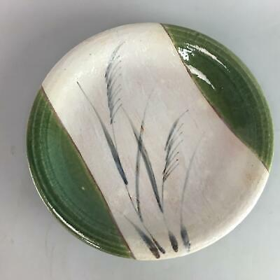 Japanese Oribe ware Ceramic Serving Plate Vtg Pottery Charger Centerpiece PT512