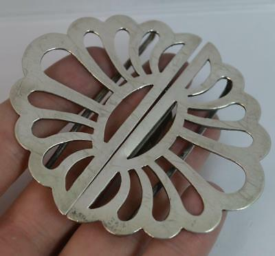 Quality Solid Silver Large Nurses Buckle