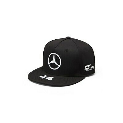 NEW 2019 Mercedes AMG F1 Team Mens Lewis Hamilton BLK Flat brim Cap Hat OFFICIAL
