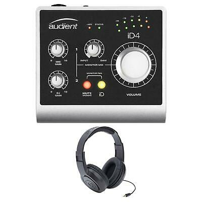 Audient ID4 USB Audio Interface w/ Resident Audio R100 Headphones Bundle