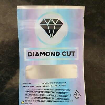 10x Diamond Cut Exotics Mylar Bag Cali tin label CaliLabels