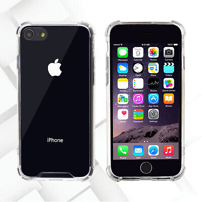 Universal Dual Layer Crystal Clear Frame Skin Hard Case Cover For iPhone 7 8
