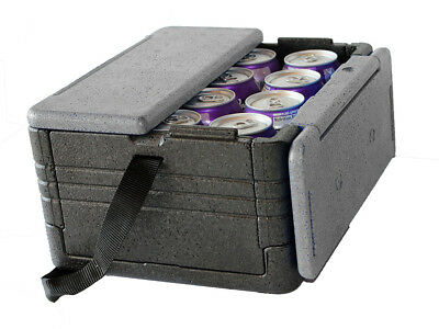FLIP BOX Grey/Black MINI Holds 12 Cans Insulation Bx Foldable Cooler-2 DAY SALE!