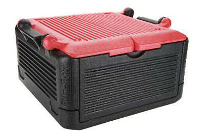 FLIP BOX (RED) LG Insulation Box Iceless,Collapsible Cooler Holds 26 Qts 45 cans