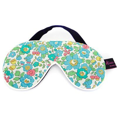 Famous Liberty London Fabric Betsy Turquoise Print Cotton Padded Eye Mask