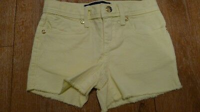 Juicy Couture yellow jeans girls shorts size 4 years