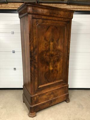 Genuine Antique French Victorian Armoire Walnut Wardrobe