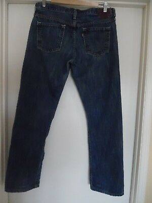 e18ad2cf Mens Levis 501 Capitol E Blue Jeans Label 29x32 Appx Measure 33x30 Red Line  USA