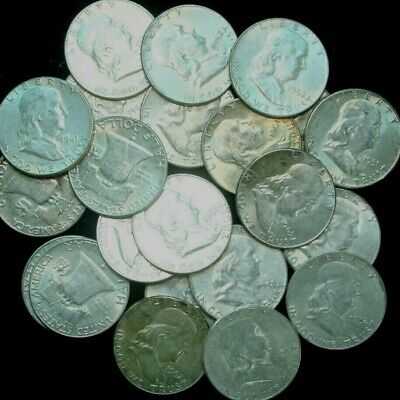 Franklin Half Dollar , AU ABOUT UNCIRCULATED , 90% Silver Coin Lot