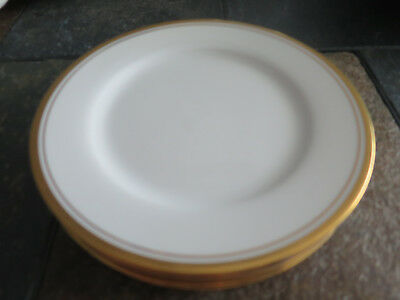 "Noritake Viceroy Bread & Butter Plates 6 3/8"" gold trim lot of 4"