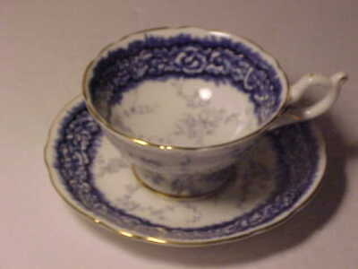 Coalport Cup and Saucer Blue on White