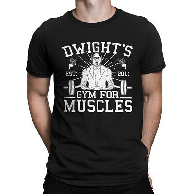 b47024c8 Dwights Gym For Muscles Funny TV Show WorkOut Funny Short Sleeve Men's T- Shirt