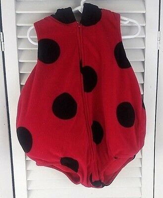 1401259f2 CARTER'S LADYBUG COSTUME Size 6-9 Months Halloween Red Black Hooded ...