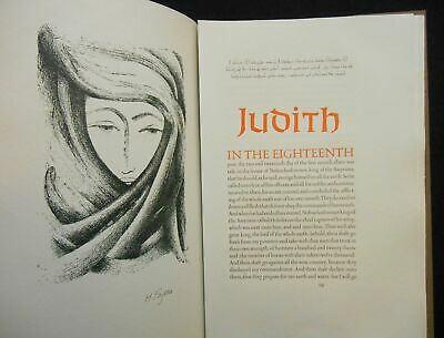 Biblical Text / Jonah Judith Ruth Three Stories From the Old Limited ed 1984