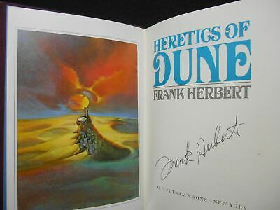Frank Herbert / Heretics of Dune Limited Signed 1st Edition 1984