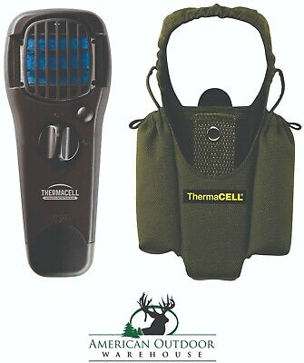 New ThermaCell Portable Mosquito Repeller MR150 Black Plus Olive Holster