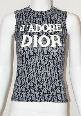 7641a33e823d1 Very Rare Christian Dior by John Galliano Blue Trotter T-shirt With J ADORE