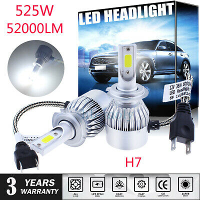 2x For Vauxhall Astra J mk6 2009-2015 Low High Beam Xenon H7 Headlight Bulbs Set