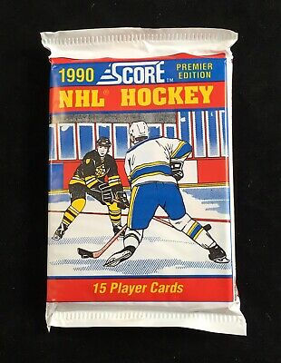 Factory Sealed Unopened 1990 Score Premier Edition Hockey Card Pack Canada