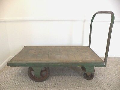 Vintage Industrial Cart, The Fairbanks Co. Platform Truck, Industrial Dolly, VGC