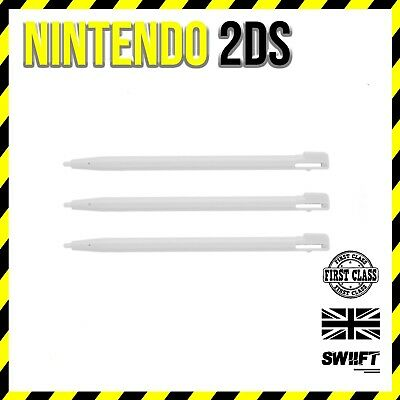 3x White Plastic Stylus Touch Pens for Nintendo 2DS
