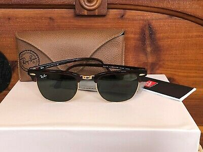 9624622d1ff RAY-BAN CLUBMASTER SUNGLASSES RB3016 WO366 Tortoise Frame 49mm Classic G-15  Lens -  75.00
